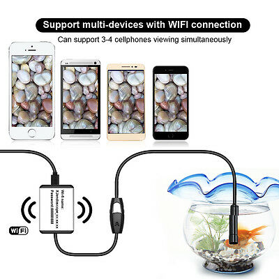 WIFI Borescope Inspection Endoscope 9mm 3.5m Snake Camera for IOS Android