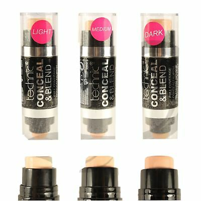 Technic Conceal & Blend Full Coverage Concealer With Blending Sponge