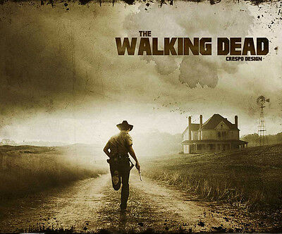 The Walking Dead Personalised Mouse Mat Gift 5 Mm Thick Mouse Pad