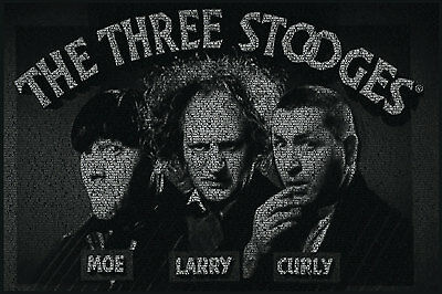 3 Stooges - All Quotes Curly Poster