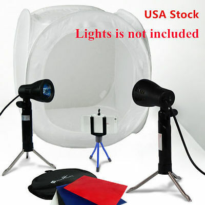 "16"" Photo Studio Photography Light Tent Backdrop Kit Lighting a Box 40cm Cube EM"