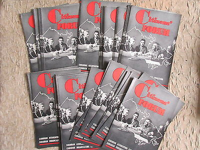 Over 60 Old 1940's CBC Citizen's Forum Brochures Canadian Broadcasting Corp