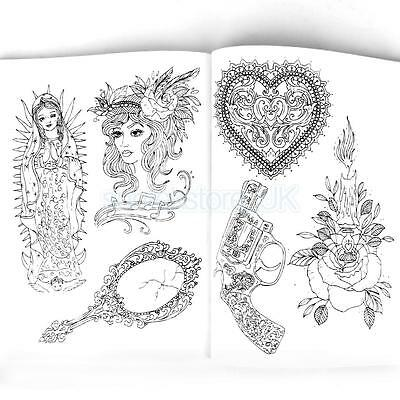 Tattoo Art Reference Book 126 Pages Dragon Skull Wolf Animal Picture Sketch