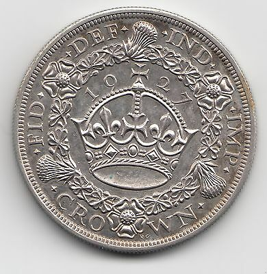 Very Rare George V 1927 Proof Silver Wreath Crown 5/-