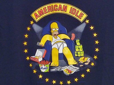 THE SIMPSONS American Idle HOMER SIMPSON T-shirt L