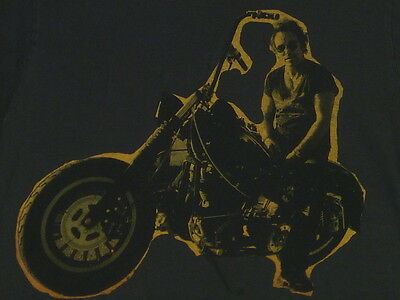 BRUCE SPRINGSTEEN & THE E STREET BAND Motorcycle Photo T-Shirt L
