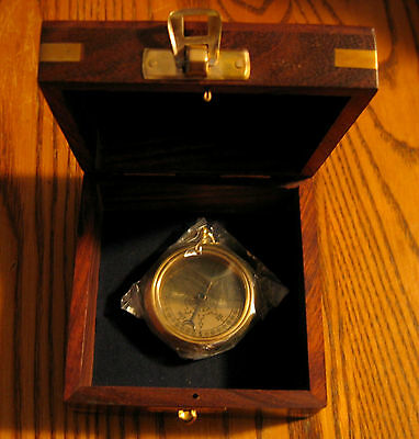 RMS TITANIC 1912 Brass POCKET COMPASS withTeak/ Brass Anchor Presentation Case!