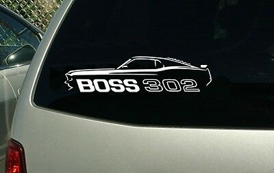 1969 Ford Mustang Boss 302 Muscle Car Vinyl Cut Sticker Decal FREE SHIPPING