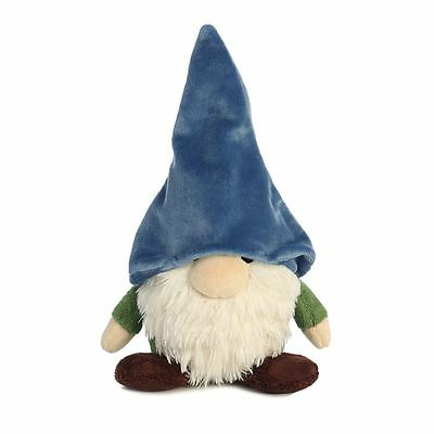 Mekkabunk Gnomlin the Small Plush Gnome with Blue Hat by Aurora