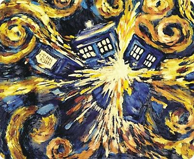 mp1873 Doctor Who Van Gogh Exploding Tardis Cool Mouse Pad Mat Computer