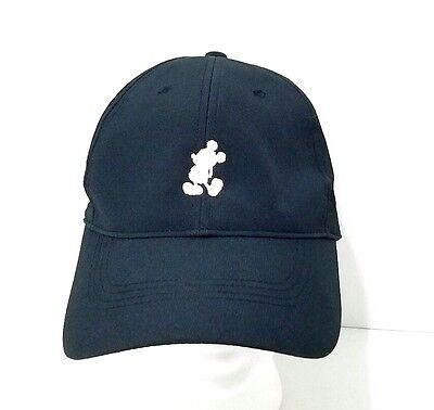 DISNEY PARKS MICKEY Mouse Icon Character Nike Black Baseball Cap Hat ... 4e4d9b8076a