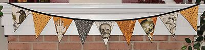 Halloween Sew Scary Skulls Bunting Pennant Flags