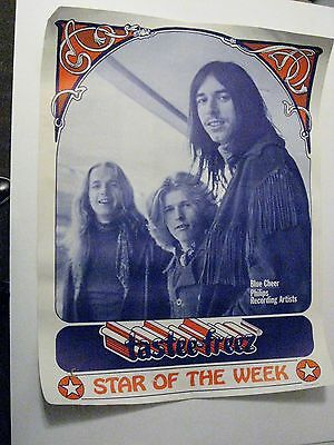 Rare 1960s TASTEE FREEZ POSTER - BLUE CHEER, Philips Recording Artist
