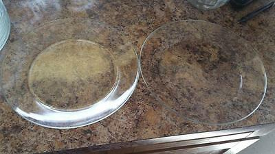 Arcoroc France clear small plates dishes Set of (2)