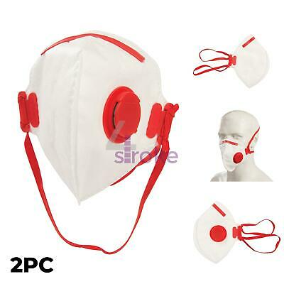 Face Safety Must Mask FFP3 Respirator Fold Flat Valved 50x Protection