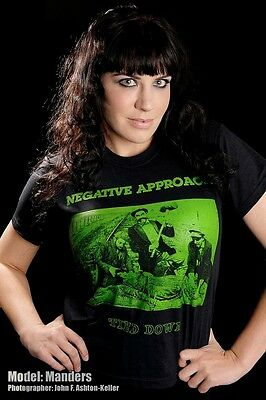 NEGATIVE APPROACH T shirt TIED DOWN DETROIT HARDCORE EARLY 80'S US HC