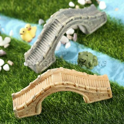 Miniature Retro Bridge Garden Ornament Figurine Dollhouse Fairy Aquarium Decor