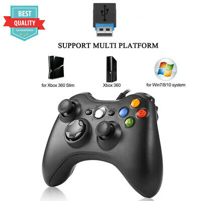 New Black Wired USB Game Pad Controller For Microsoft Xbox 360 PC Windows