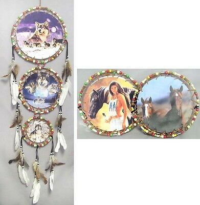 Handmade Tribal Beaded Dream Catchers Wall Decorations 6Pc Lot (ENpDc26-6)