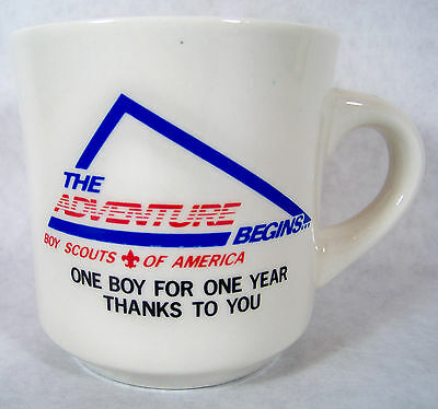 The Adventure Begins One Boy for One Year Thanks to You Boy Scout B.S.A Mug