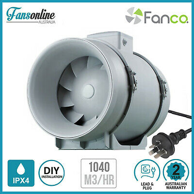 TT Mixflow Inline Fan 200mm | Exhaust Fan | Hydroponics | Bathroom Ventilation