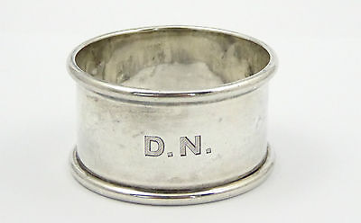 """Antique Hallmarked Sterling Silver Napkin Ring Monogrammed """"DN""""  LAYBY AVAILABLE"""