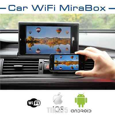 Car WIFI Mirror Link Box For Android iOS Navigation Audio Video To Car Screen