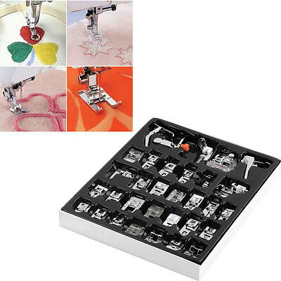 32 Pcs Sewing Machine Presser Foot Feet Tool for Brother Singer Janome Domestic