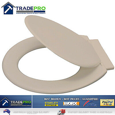 Toilet Seat & Cover Quality Braiform® Multi-Fit Almond Ivory Beige ConcealHinges