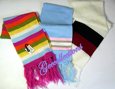 Assorted Colorful Striped Toddler Boys Girls Winter Knit Scarves ~ Lot NEW