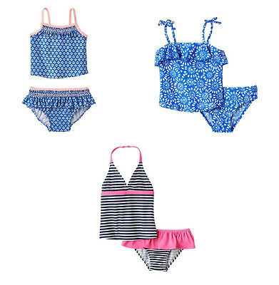 Carter's Oshkosh Toddler Girls 2~PC Rashguard UPF +50 Sun Protection Bikini Set
