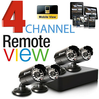 Swann 4ALP14 DVR4 CCTV 4x 650 TVL Cameras DVR Security System Surveillance NEW