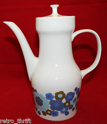 Vintage Melitta Germany Porcelain White Coffee Pot Colorful Flowers Retro AS-IS