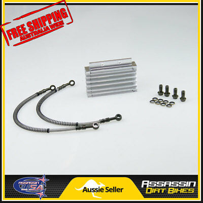 Silver CNC oil cooler kit Radiator 140cc 150cc 160cc PIT PRO Trail Dirt Quad Bik