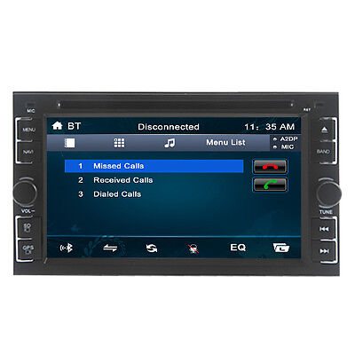 Double 2 DIN Touch Screen Car DVD Player Bluetooth GPS Nav Stereo Radio FM/USB