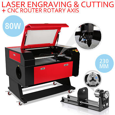 80W Laser Engraving Machine Rotary Axis Engraver 3-Jaw  High Efficiency Great