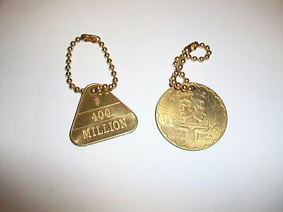 2 Vintage Twin Cities Federal Keychain Key Chains 400 Million & Minnesota Centen