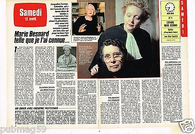 Coupure de presse Clipping 1986 (2 pages) Marie Besnard