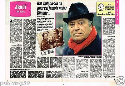Coupure de presse Clipping 1986 (2 pages) Raf Vallone
