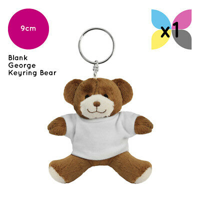 Plain Printable Keyring Teddy Bear Blank Bulk Stock Available Ideal4 Sublimation