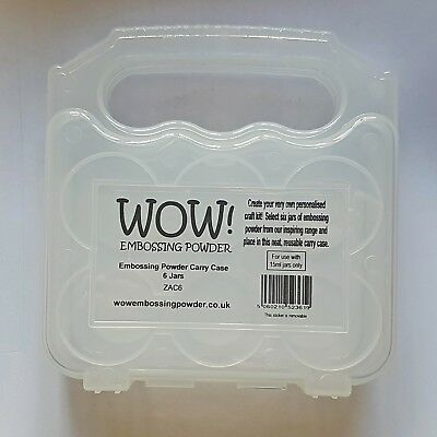 Wow Embossing Powder Empty 6 Jar Case