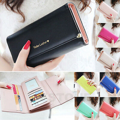 New Women Lady PU Leather Wallet Lovely Carriage Wallet Clutch Bag Long Purse