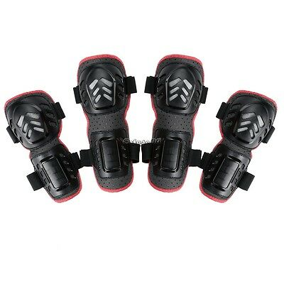 Adult Pad Cycling Knee Elbow Protective Gear Pads for Motorcycle Bike 4pcs/set