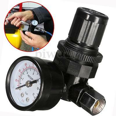1 / 4-19 Thread HVLP Spray Gun Air Regulator with Pressure Gauge 180PSI 70mm