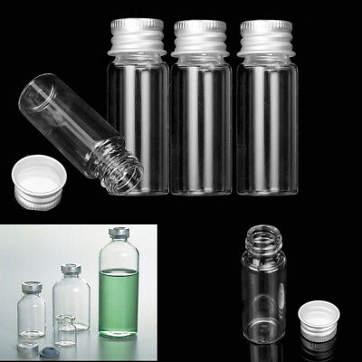 1/5/10Pcs 15ml Small Empty Clear Storage Vials Bottles Glass 60mm*20mm With Cap