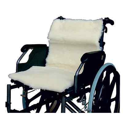 Real Pure Wool Wheelchair Seat and Back Cover Fleece - 100% Wool