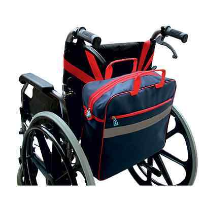 Wheelchair Shopping Bag - Navy Blue with Red Trim
