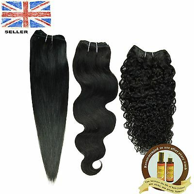 Brazilian GLAMOUR 100% Human Hair Remy Hair Extension Weave 105g Unprocessed