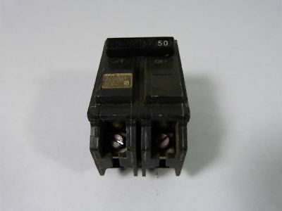 General Electric THQL2150 Circuit Breaker 50Amp 2Pole  USED
