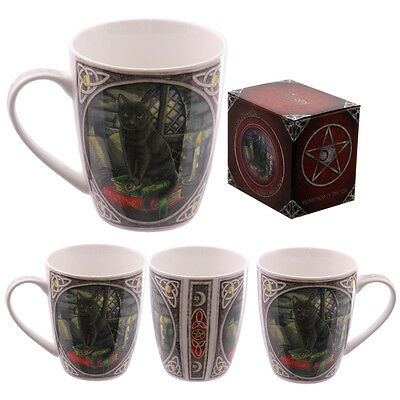 "Lisa Parker ""black Cat On Spell Books"" Wicca Gothic Mug,cup"